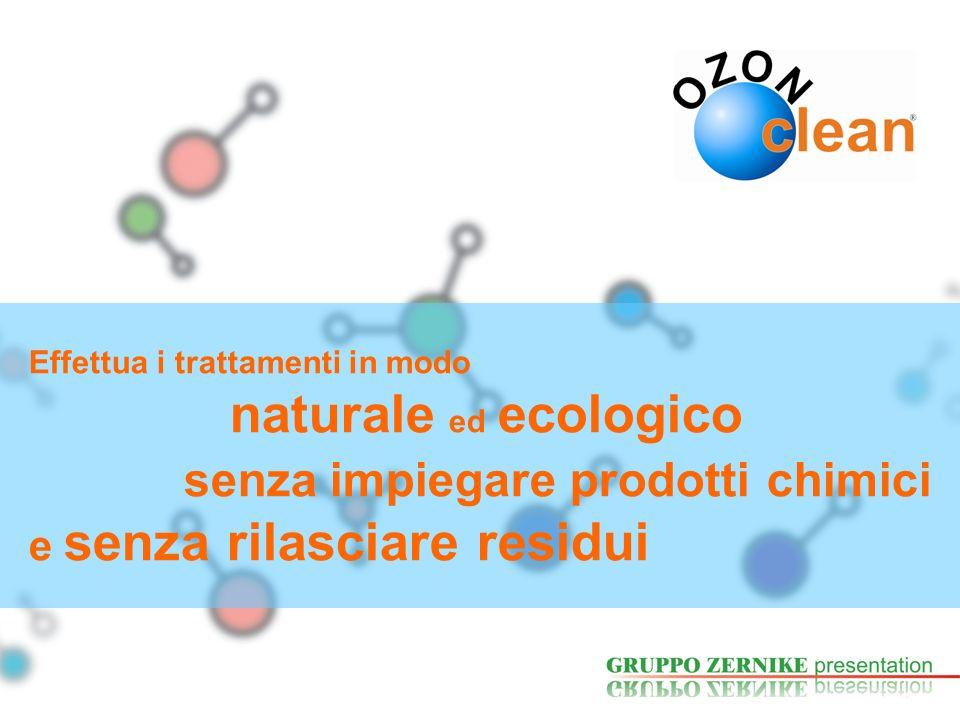 Effettua i trattamenti in modo naturale ed ecologico senza impiegare prodotti chimici e senza rilasciare residui