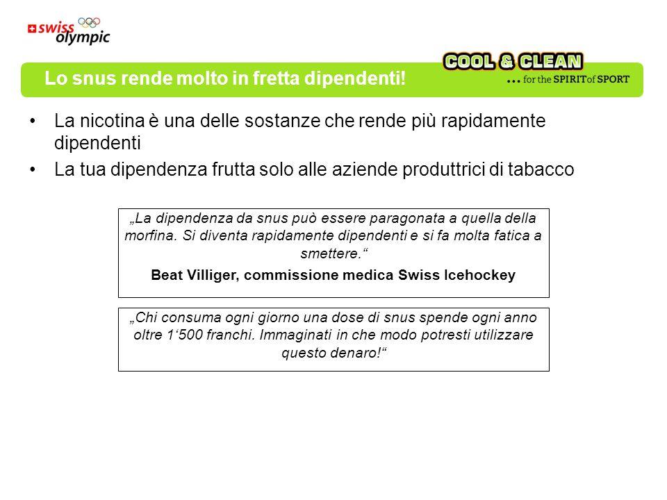 La nicotina è una delle sostanze che rende più rapidamente dipendenti La tua dipendenza frutta solo alle aziende produttrici di tabacco La dipendenza