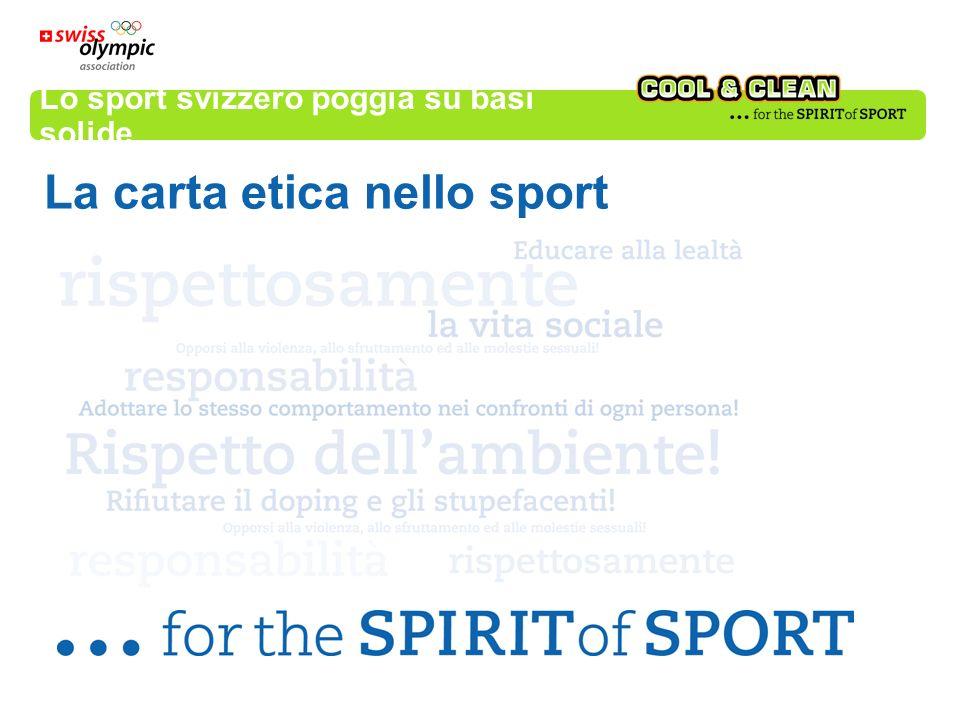 Lo sport svizzero poggia su basi solide La carta etica nello sport