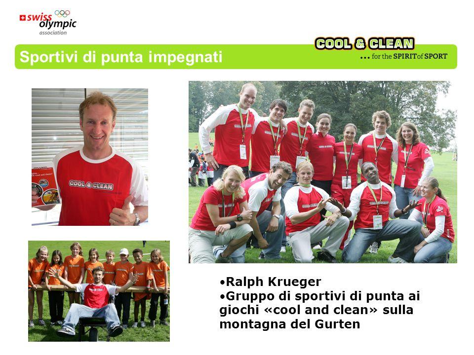 Sportivi di punta impegnati Ralph Krueger Gruppo di sportivi di punta ai giochi «cool and clean» sulla montagna del Gurten