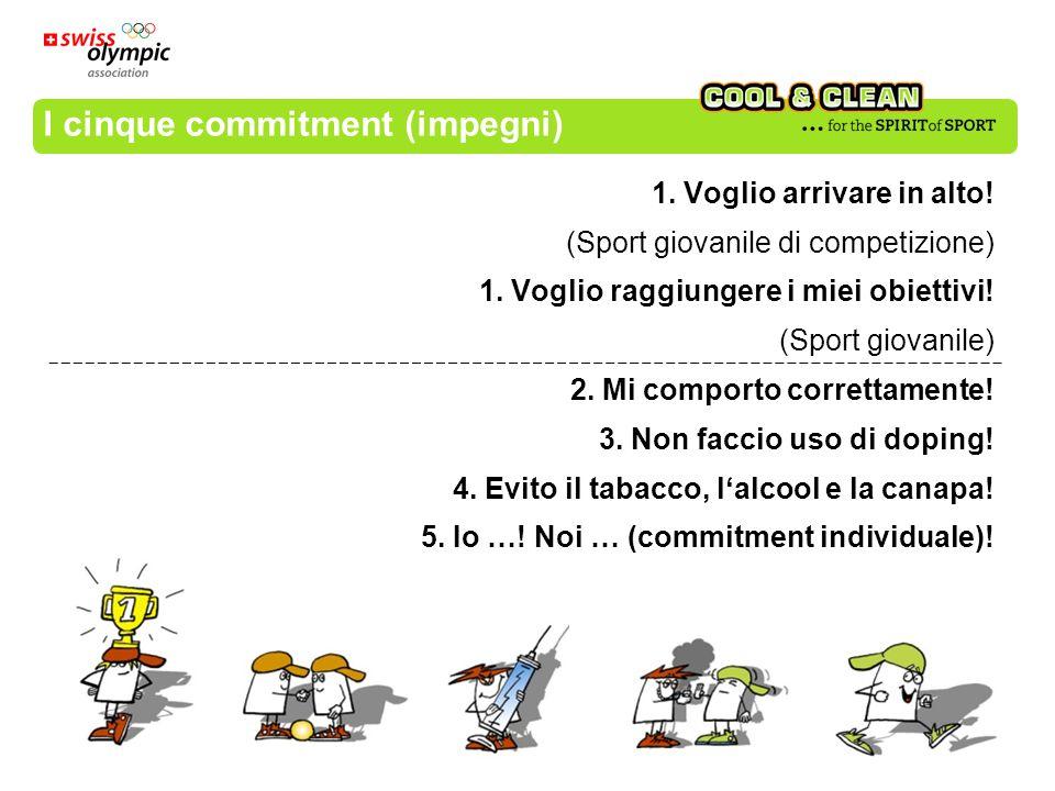 I cinque commitment (impegni) 1. Voglio arrivare in alto! (Sport giovanile di competizione) 1. Voglio raggiungere i miei obiettivi! (Sport giovanile)