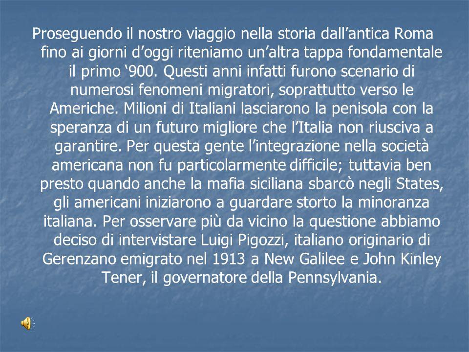 Proseguendo il nostro viaggio nella storia dallantica Roma fino ai giorni doggi riteniamo unaltra tappa fondamentale il primo 900. Questi anni infatti