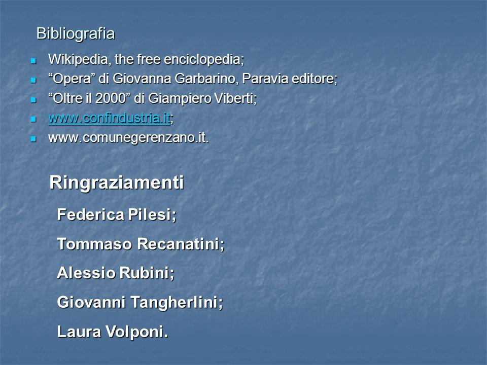 Bibliografia Bibliografia Wikipedia, the free enciclopedia; Wikipedia, the free enciclopedia; Opera di Giovanna Garbarino, Paravia editore; Opera di G