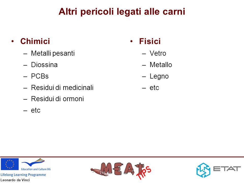 Leonardo da Vinci Fonti di contaminazione – Animale/materia prima pellame bocca/naso intestino