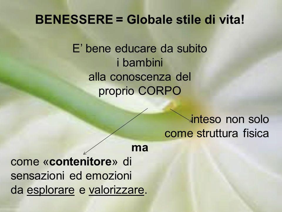 BENESSERE = Globale stile di vita.
