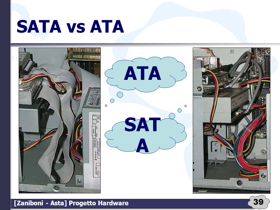 39 [Zaniboni - Asta] Progetto Hardware SATA vs ATA ATA SAT A