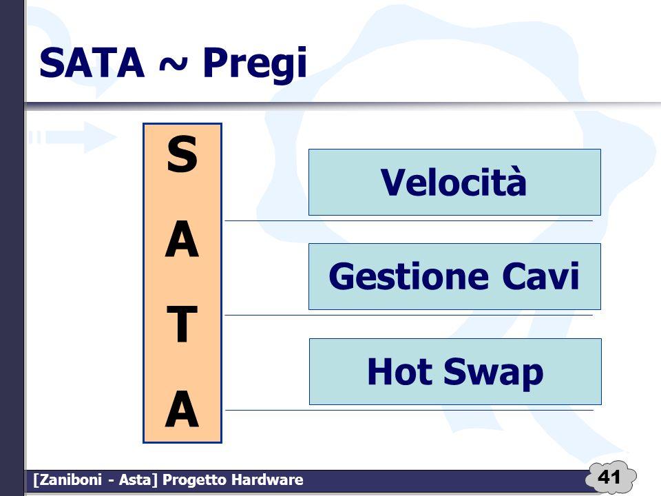 41 [Zaniboni - Asta] Progetto Hardware SATA ~ Pregi Velocità Gestione Cavi Hot Swap SATASATA