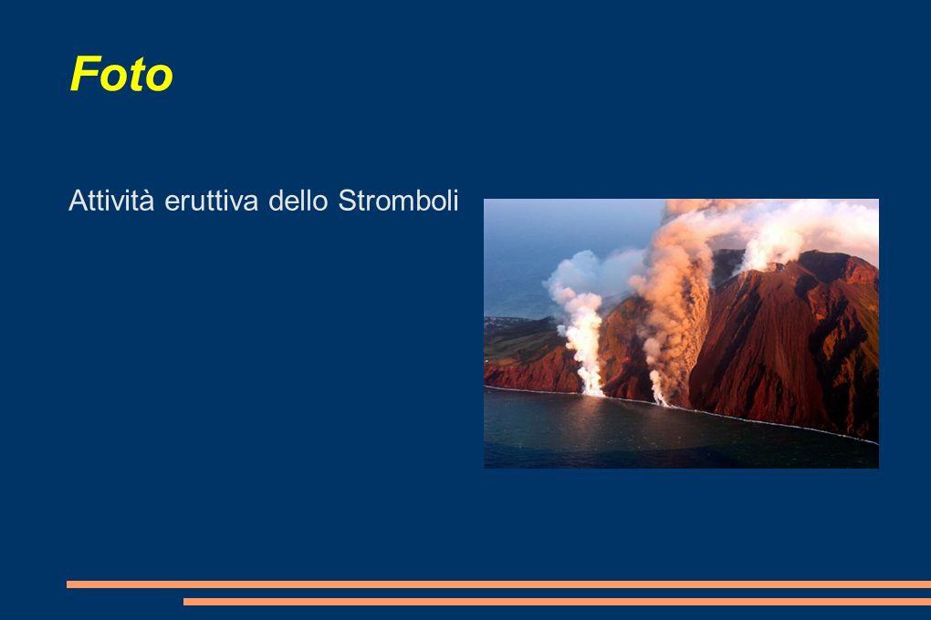 Foto Attività eruttiva dello Stromboli