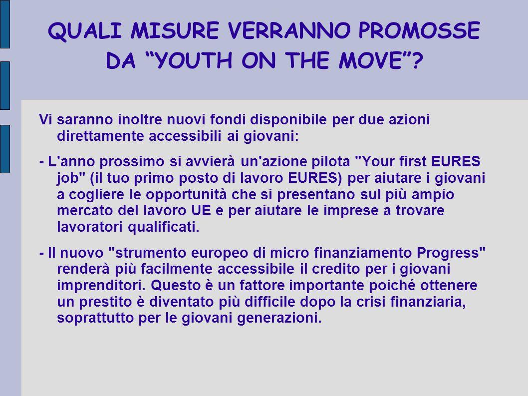 QUALI MISURE VERRANNO PROMOSSE DA YOUTH ON THE MOVE.