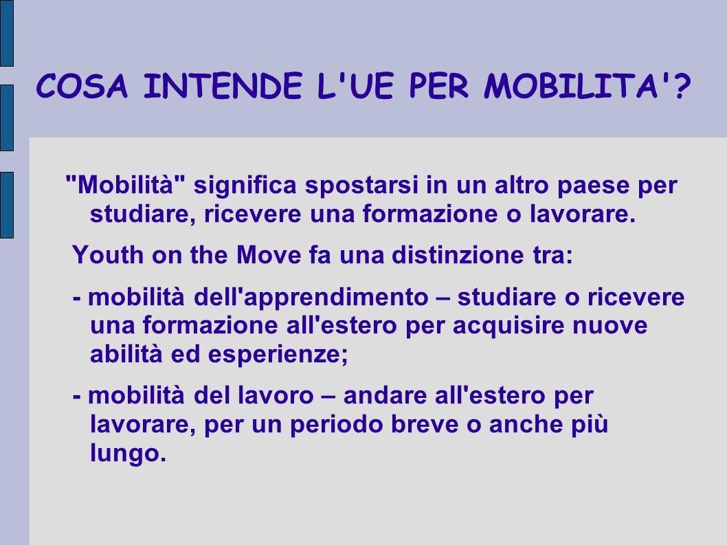 COME PUO YOUTH ON THE MOVE SOSTENERE LA MOBILITA .