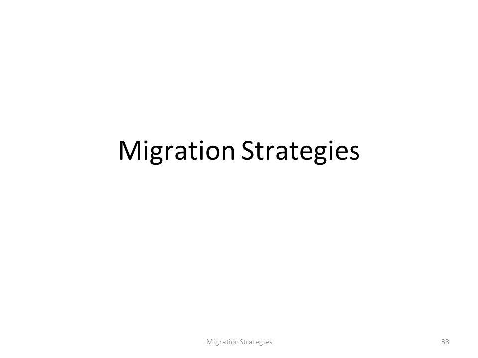 Migration Strategies38 Migration Strategies