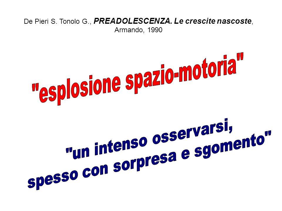 De Pieri S. Tonolo G., PREADOLESCENZA. Le crescite nascoste, Armando, 1990