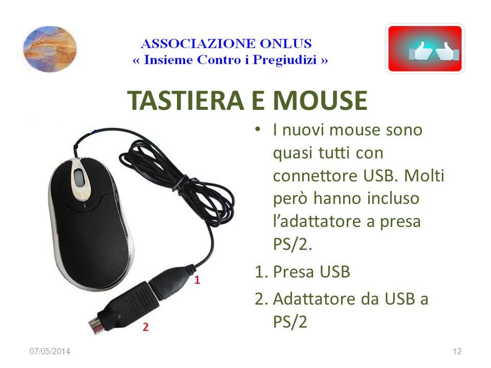 CONNETTORI TASTIERA E MOUSE 1. Presa per Mouse con connettore PS/2 2. Presa per Tastiera con connettore PS/2 3. Presa combinata per Tastiera o Mouse c
