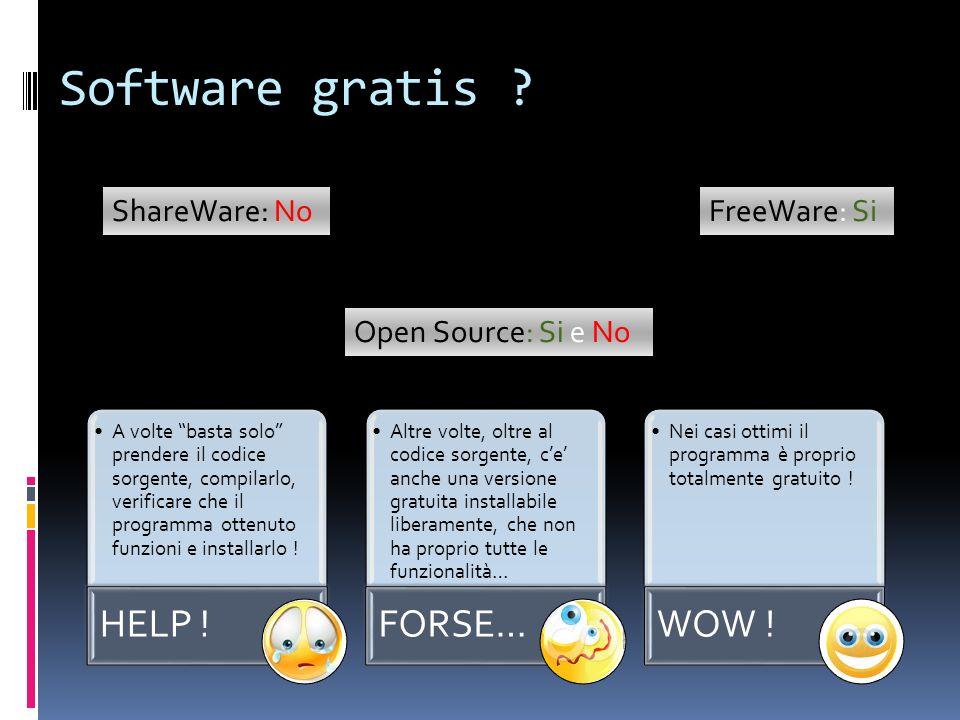 Software gratis ? A volte basta solo prendere il codice sorgente, compilarlo, verificare che il programma ottenuto funzioni e installarlo ! HELP ! Alt