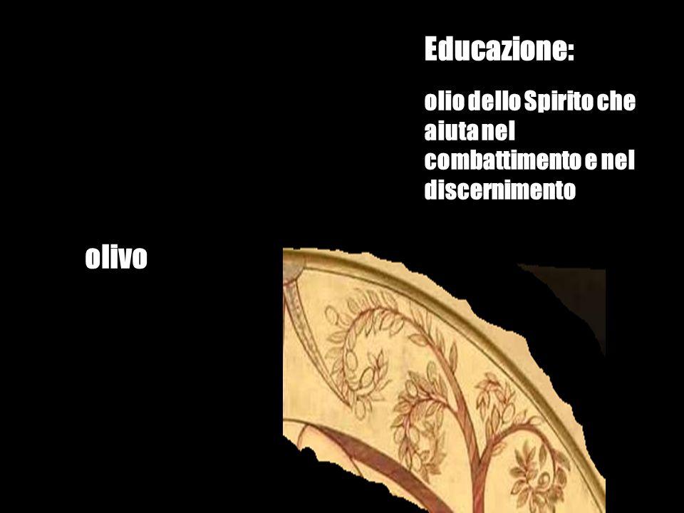 olivo Educazione: olio dello Spirito che aiuta nel combattimento e nel discernimento