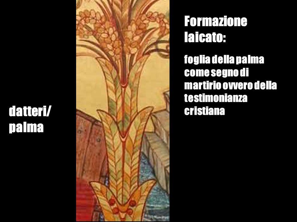 datteri/ palma Formazione laicato: foglia della palma come segno di martirio ovvero della testimonianza cristiana