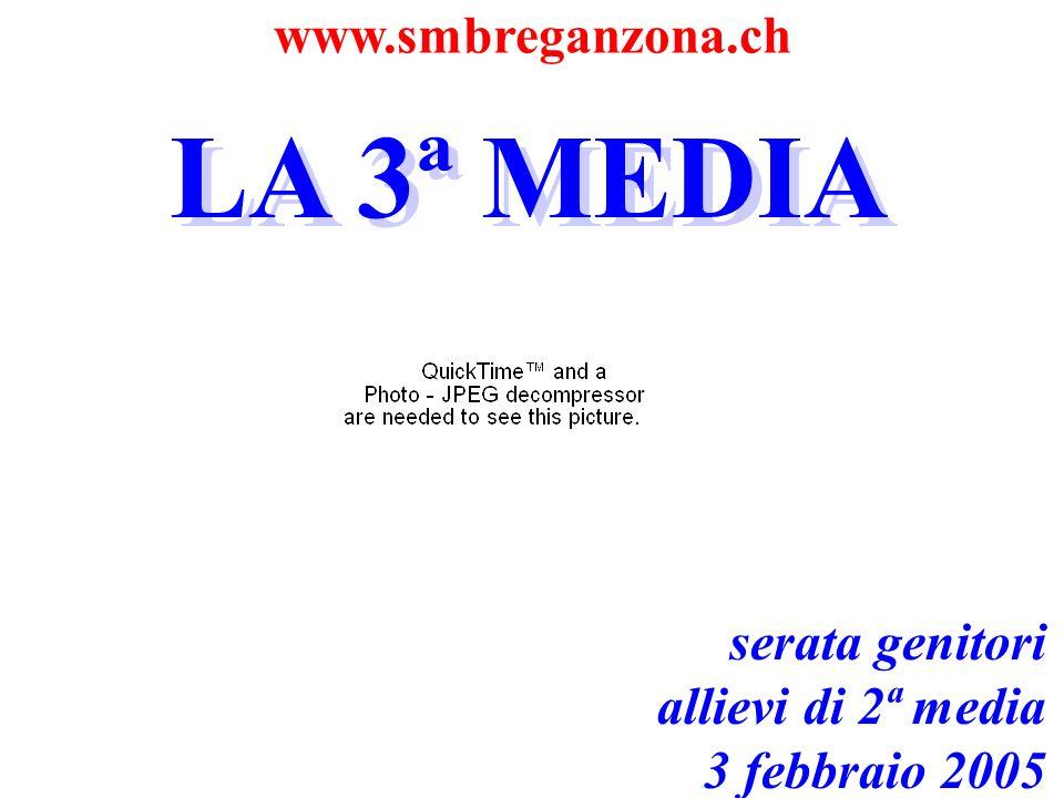 www.smbreganzona.ch LA 3ª MEDIA serata genitori allievi di 2ª media 3 febbraio 2005