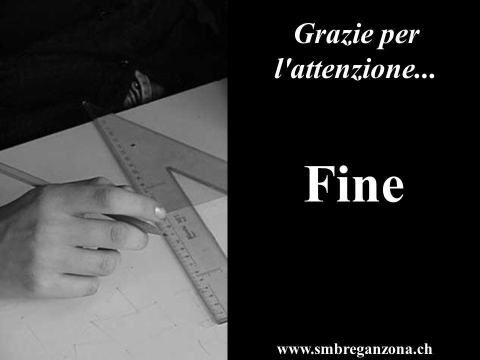 Fine www.smbreganzona.ch Grazie per l'attenzione...