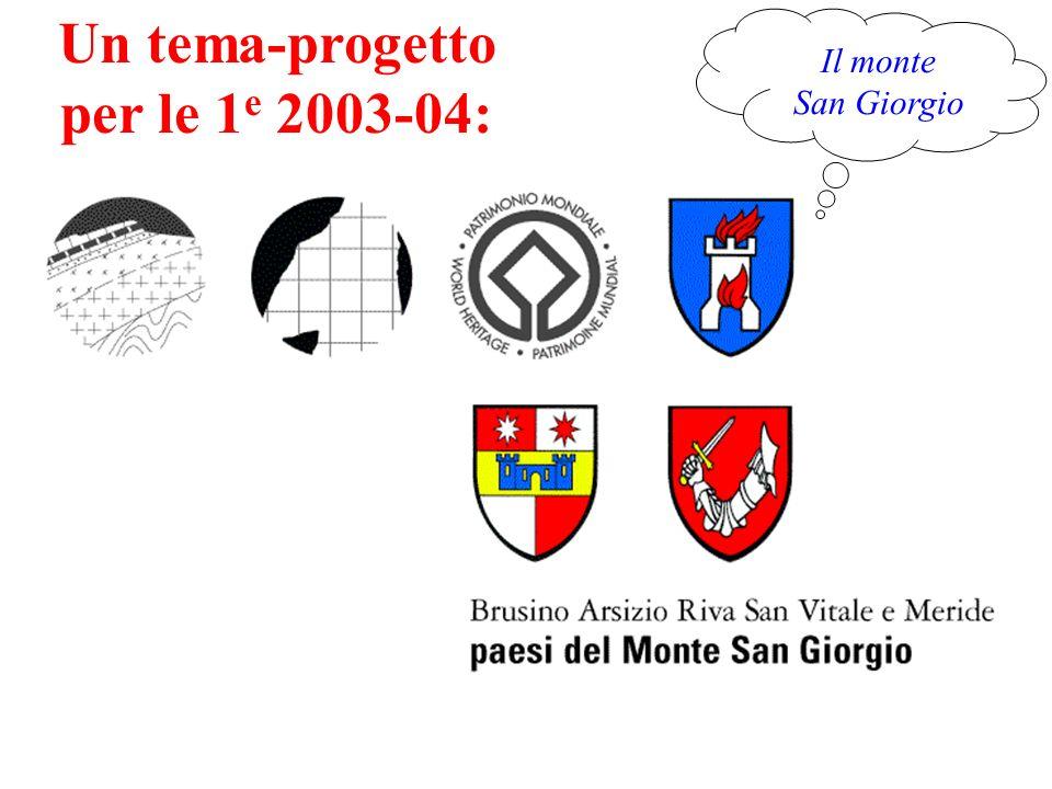 Il monte San Giorgio Un tema-progetto per le 1 e 2003-04: