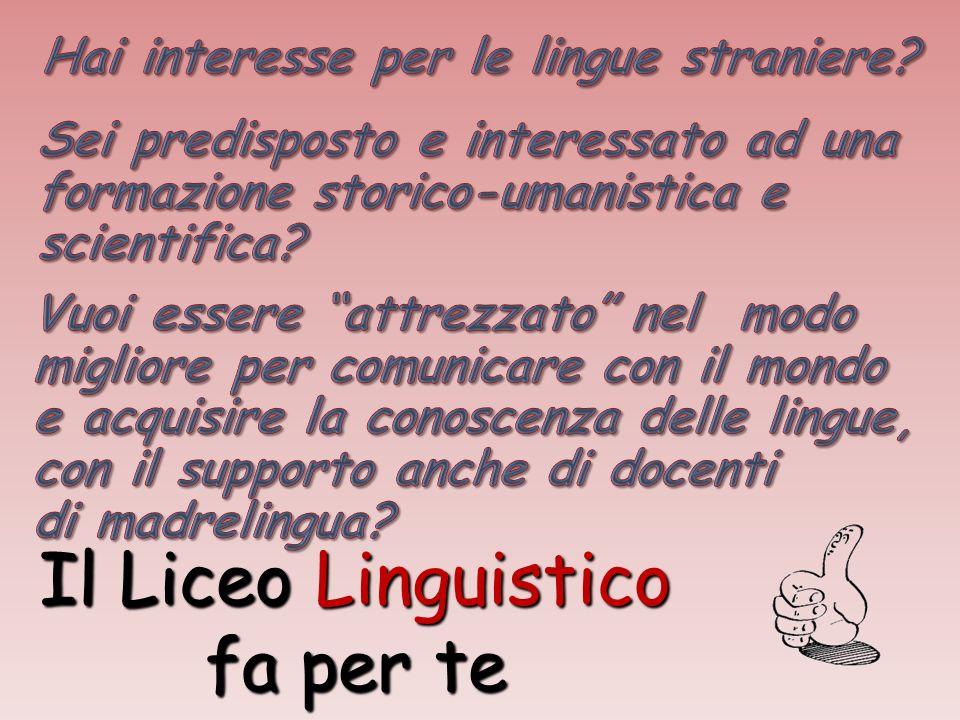 Il Liceo Linguistico fa per te