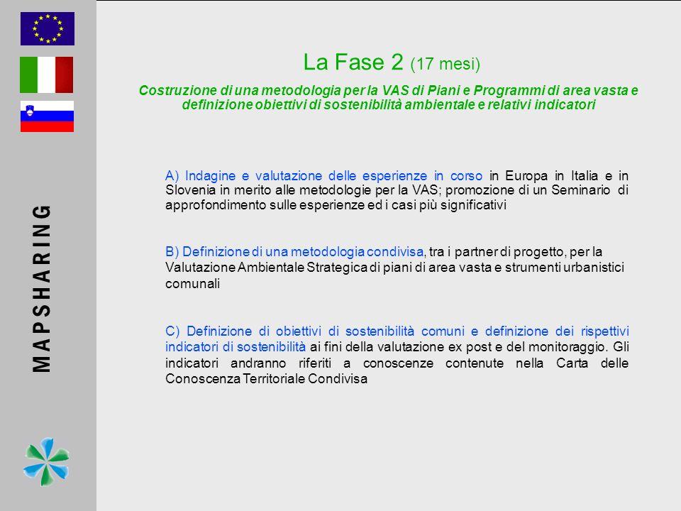 A) Indagine e valutazione delle esperienze in corso in Europa in Italia e in Slovenia in merito alle metodologie per la VAS; promozione di un Seminari