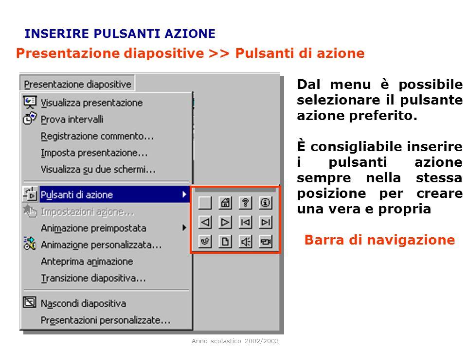 Anno scolastico 2002/2003 Per ascoltare il risultato della nostra registrazione, fare click sullicona, visualizzata in basso a sinistra. Facendo click