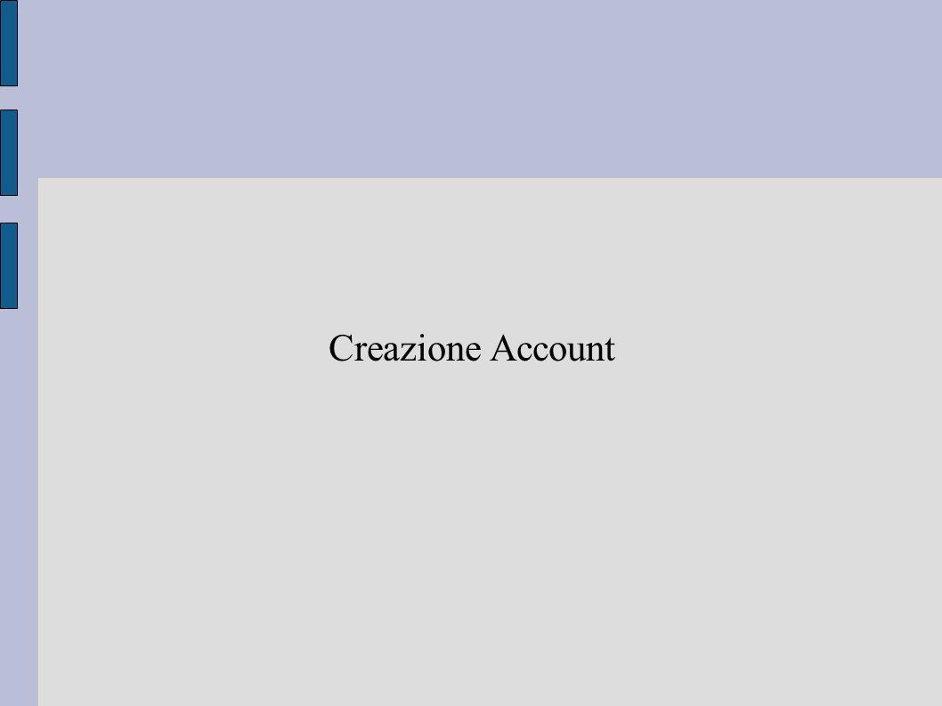 Creazione Account