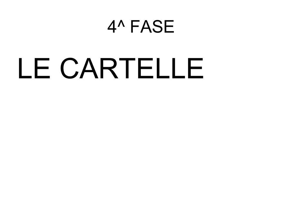 4^ FASE LE CARTELLE
