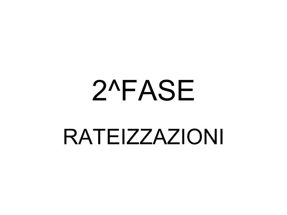 2^FASE RATEIZZAZIONI