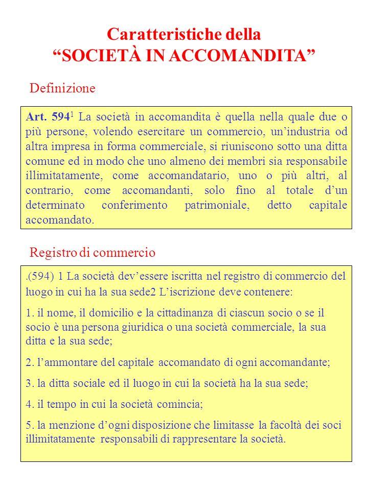 Caratteristiche della SOCIETÀ A GARANZIA LIMITATA (949) 2.