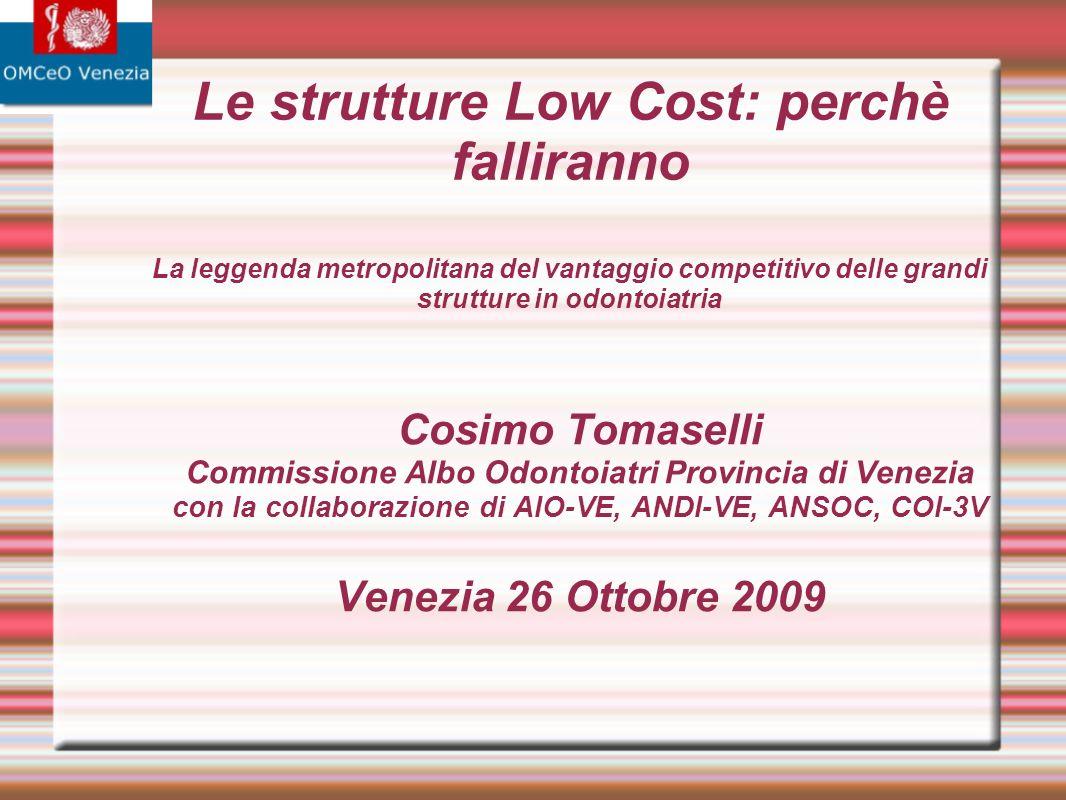 Risposta 2 IL LOW COST non offre cure di qualità inferiore a prezzi inferiori ma cure di qualità inferiore a prezzi superiori