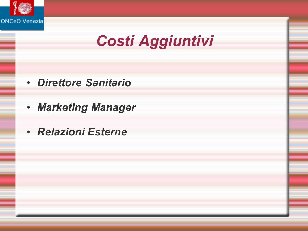 Costi Aggiuntivi Direttore Sanitario Marketing Manager Relazioni Esterne