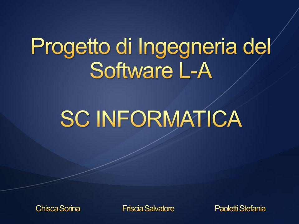 Lazienda SC Informatica si occupa della progettazione e della realizzazione di sistemi informatici dedicati alle farmacie.