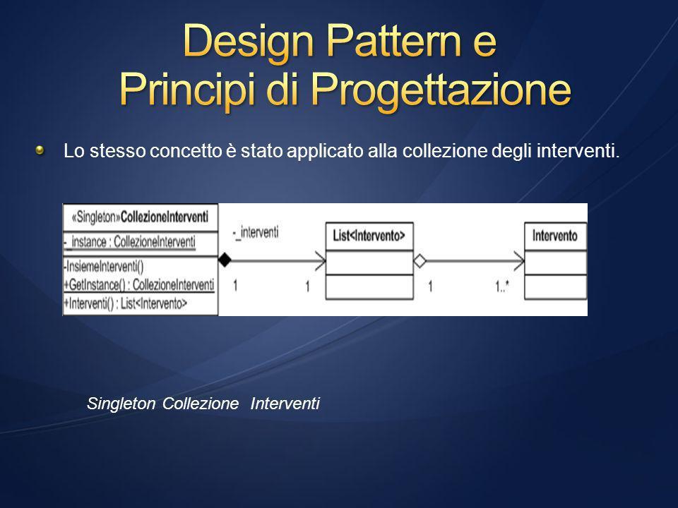 Lo stesso concetto è stato applicato alla collezione degli interventi.