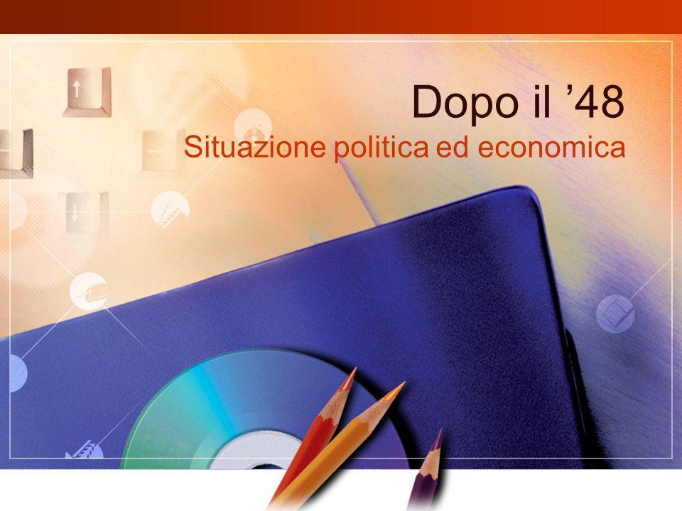Dopo il 48 Situazione politica ed economica