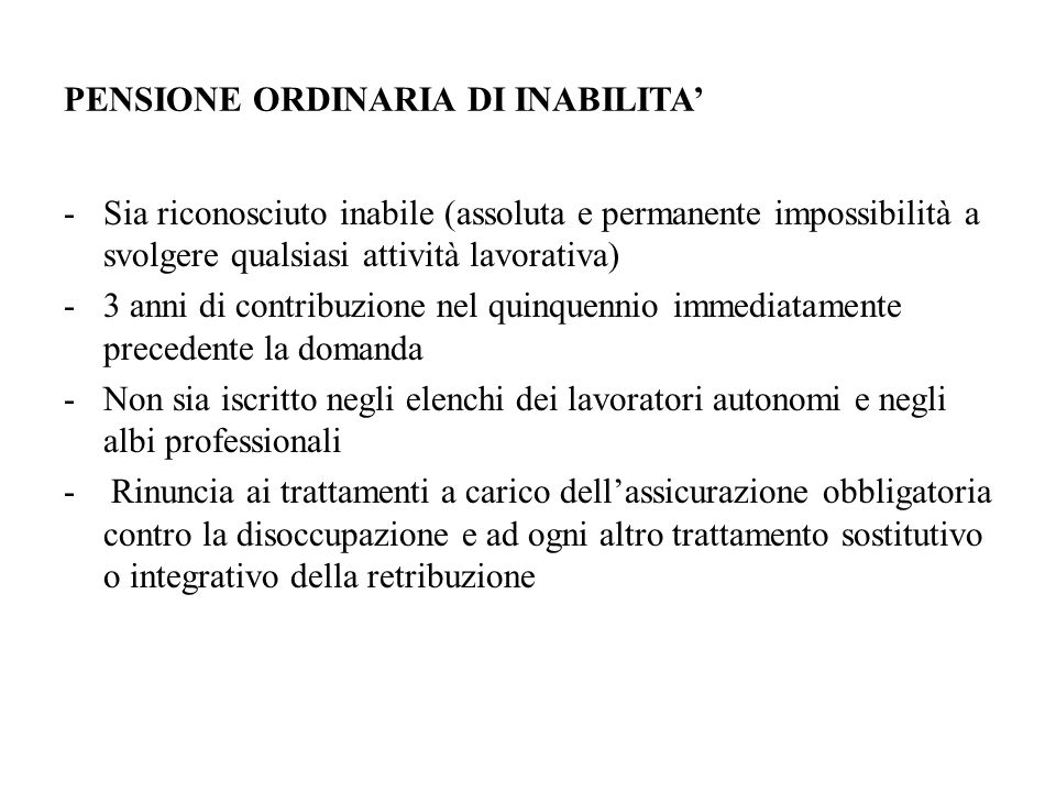 Come si ottiene la prestazione: il lavoratore invalido presenta richiesta all unità territoriale INAIL competente;INAIL competente può essere proposta su iniziativa della Sede stessa