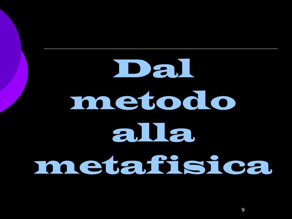 9 Dal metodo alla metafisica