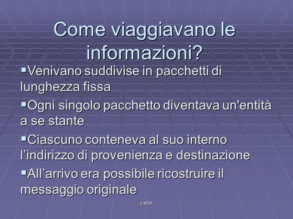 EM 09 Come viaggiavano le informazioni.