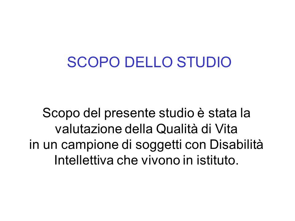 MATERIALI E METODI Fra gli ospiti dellIstituto Villa Valentina di Firenze, centro di riabilitazione per persone con ritardo mentale, ne sono stati reclutati 25.