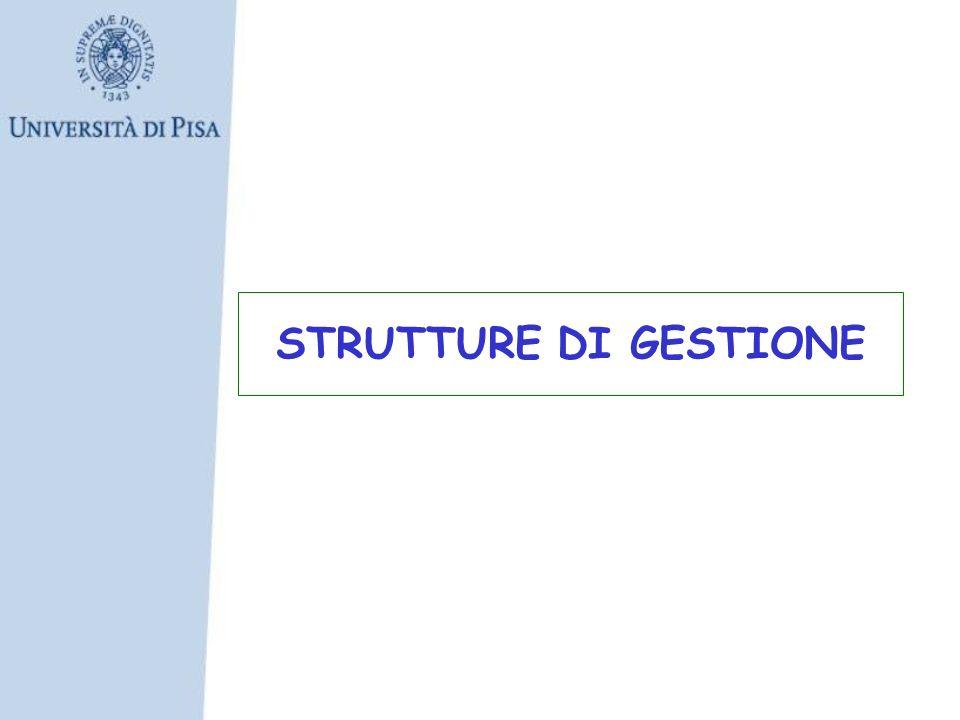 STRUTTURE DI GESTIONE