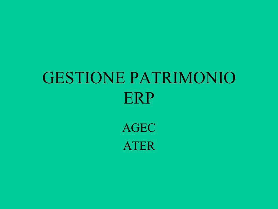 GESTIONE PATRIMONIO ERP AGEC ATER