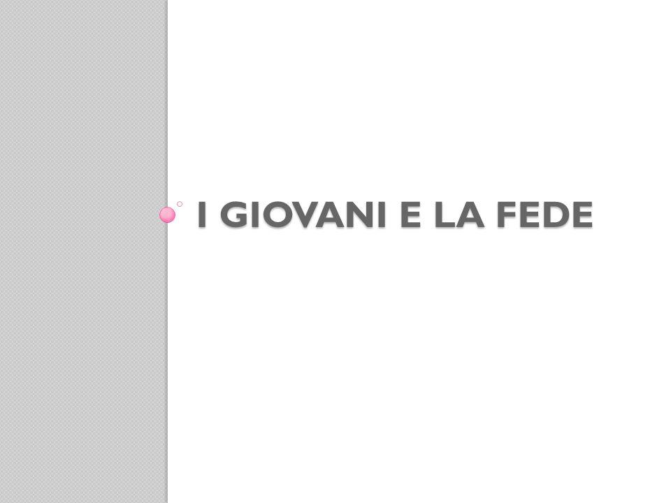Partecipazione a particolari momenti liturgici Giovani italiani, 18-29enni.