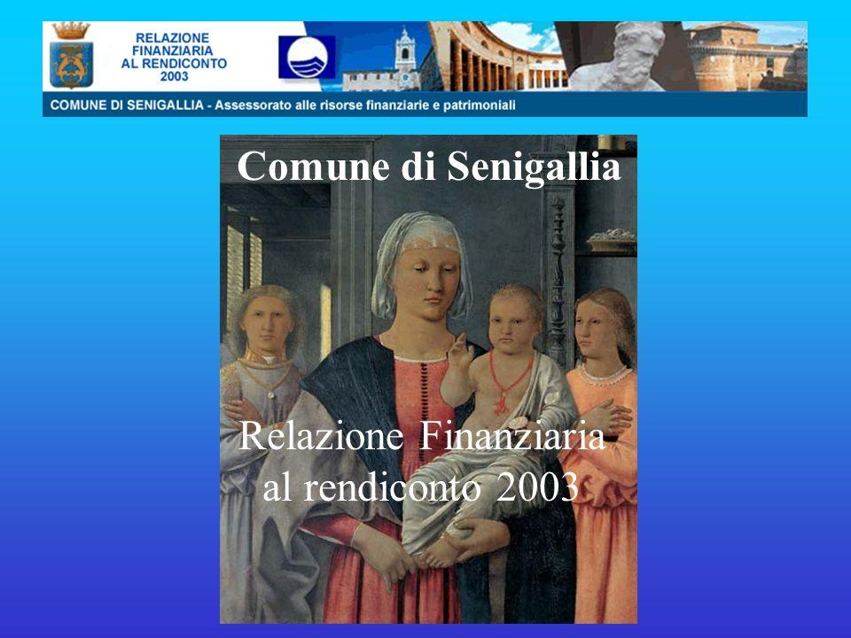 Comune di Senigallia Relazione Finanziaria al rendiconto 2003