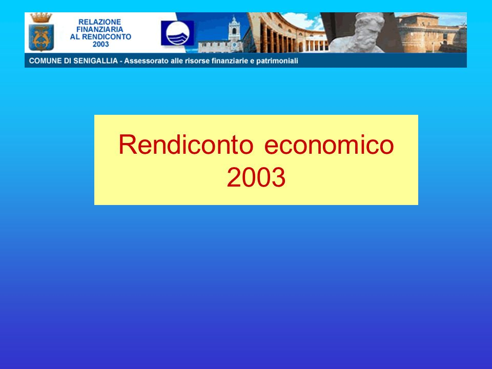Rendiconto economico 2003