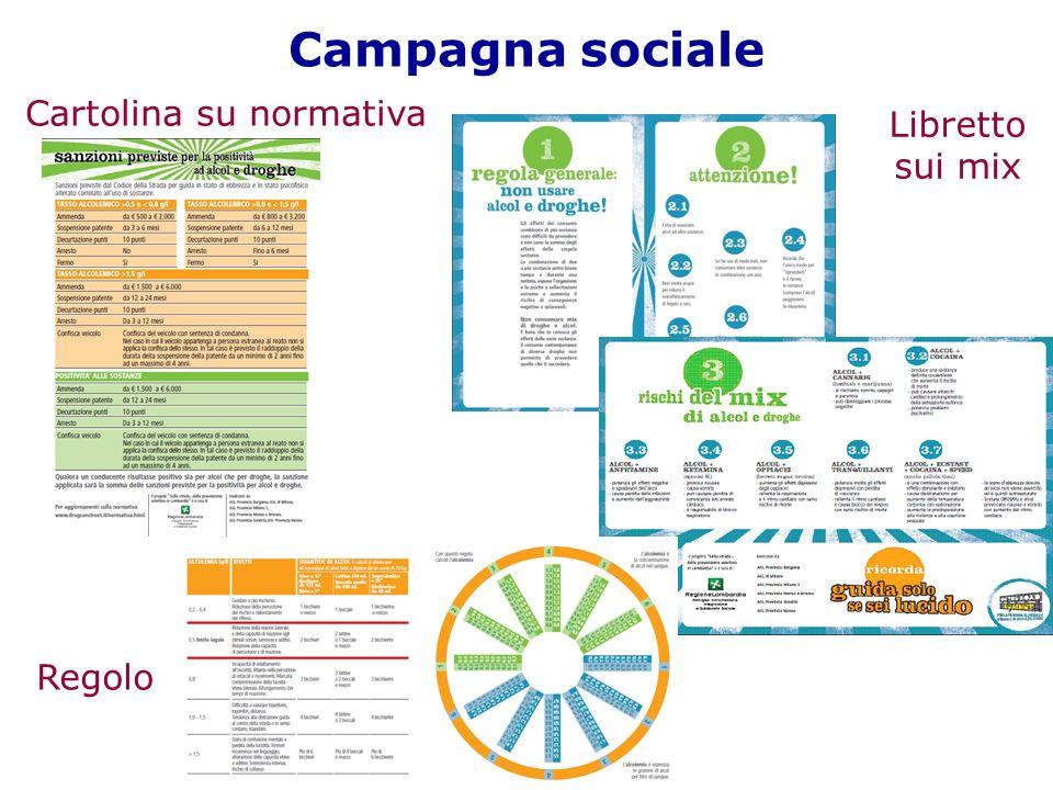Campagna sociale Cartolina su normativa Regolo Libretto sui mix