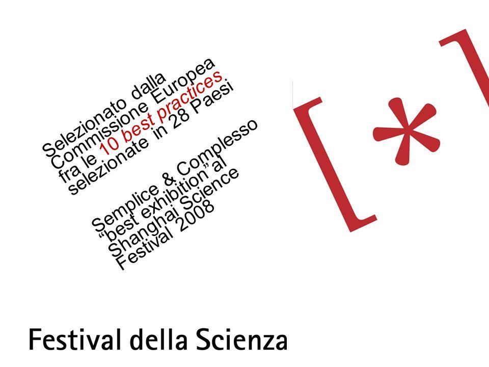 Selezionato dalla Commissione Europea fra le 10 best practices selezionate in 28 Paesi Semplice & Complesso best exhibitional Shanghai Science Festival 2008