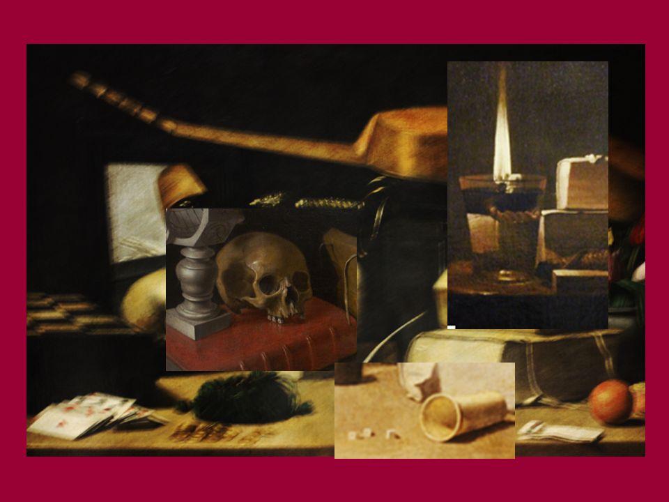Gli oggetti rappresentati acquistano, come del resto il significato della vita stessa, una valenza simbolica. Lo specchio rappresenta lillusione, il t
