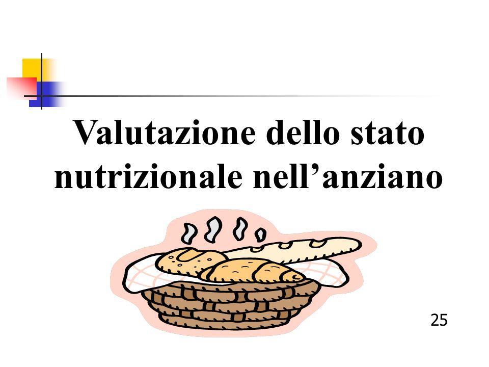 Valutazione dello stato nutrizionale nellanziano 25