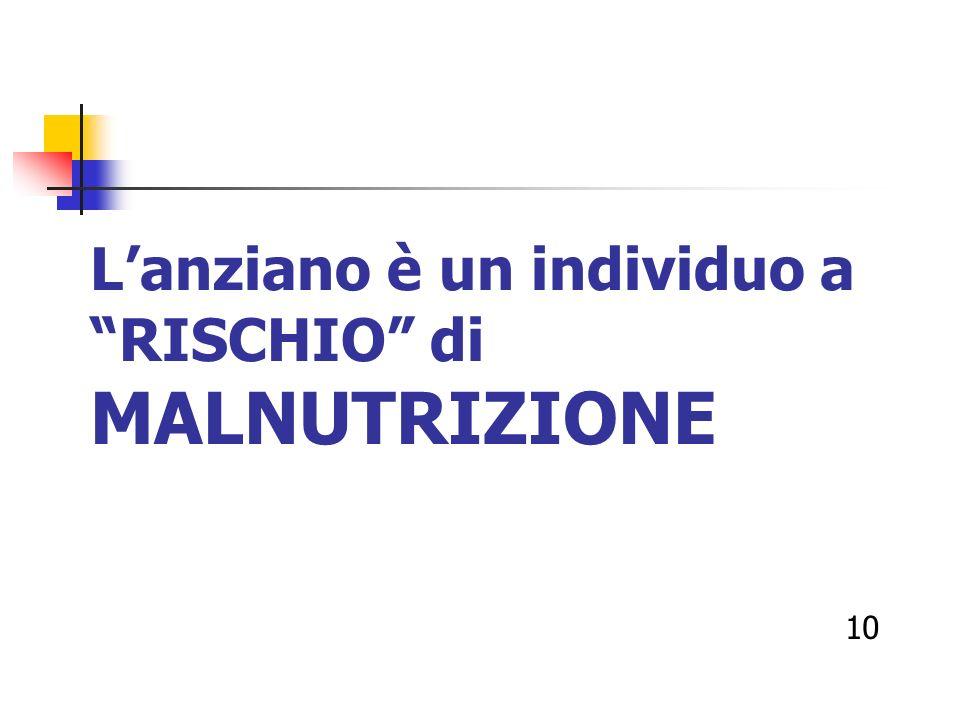 Lanziano è un individuo a RISCHIO di MALNUTRIZIONE 10
