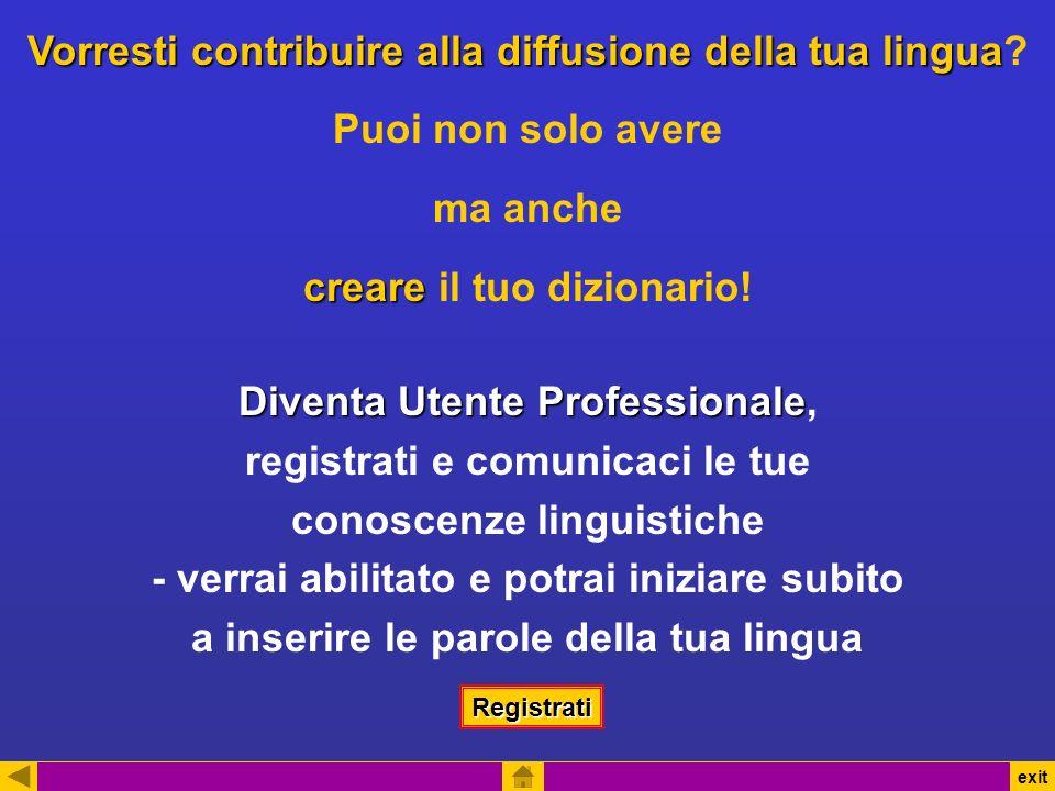 Vorresti contribuire alla diffusione della tua lingua Vorresti contribuire alla diffusione della tua lingua.